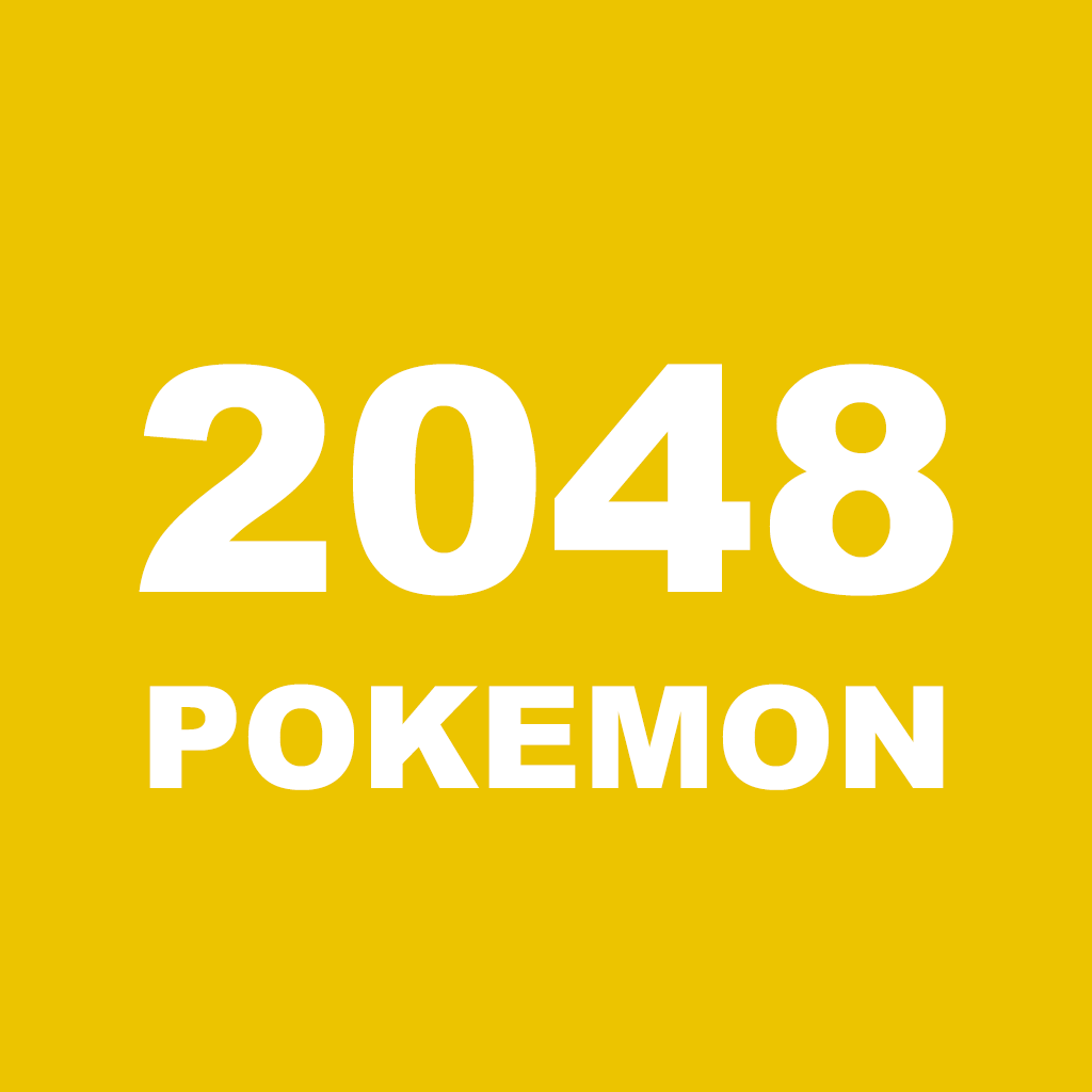 2048 Pokemon Version (3x3 4x4 5x5 6x6 Board Size - Endless Mode): Logic Number Puzzle Game